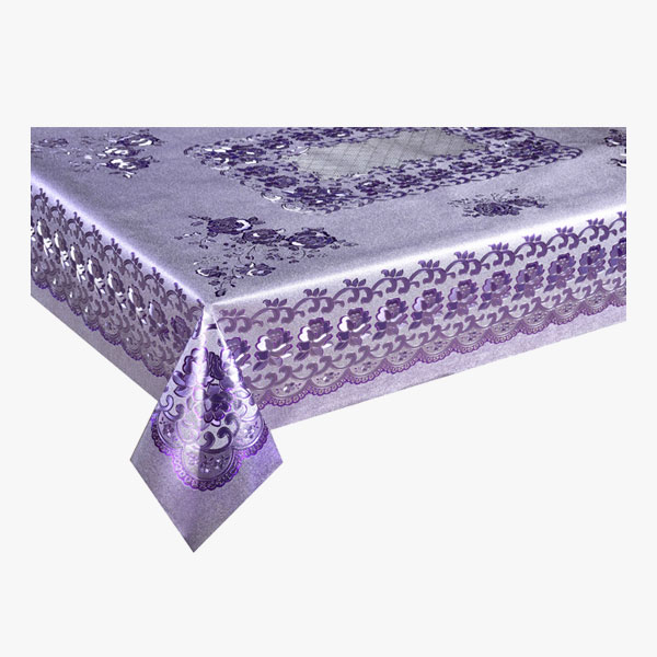Pvc Printing Table Cloth With Yarn Backing